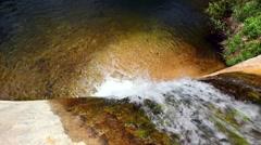 Desert Waterfall and lagoon Stock Footage