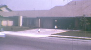 Stock Video Footage of Suburban Tract Homes AMERICAN DREAM California 1970 Vintage Film Home Movie 1k92
