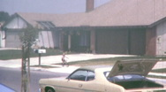 Stock Video Footage of SO CAL LA Suburban Tract Homes SUBURBIA 1970 Vintage Film Home Movie 1k90