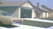 Stock Video Footage of LA SUBURBAN LIFE Tract Homes 1970 (Vintage 8mm Home Movie Footage) 1k8y