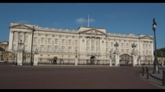 Buckingham palace london - stock footage
