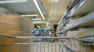 Shopping cart time lapse Stock Footage