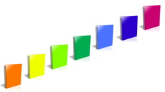 Conceptual video choose color of the Binder. Stock Footage