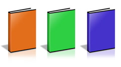 Conceptual video choose color of the Books. Stock Footage