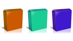 Conceptual video choose color of the Box. Stock Footage
