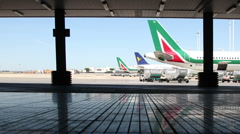 Rome airport outside Stock Footage
