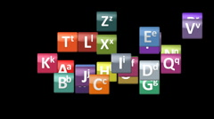 english alphabet - stock footage