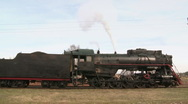 Standing steam train Stock Footage