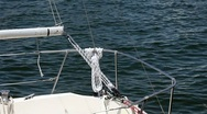Boat rope detail Stock Footage