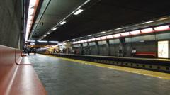 Montreal metro - Vandome - stock footage