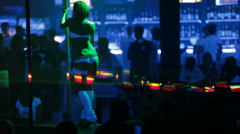 Dance club party Stock Footage
