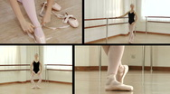 Ballet Montage Stock Footage