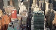 Millenium skyscrapers towers manhattan skyline Stock Footage