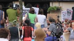 Slutwalk crowd Stock Footage