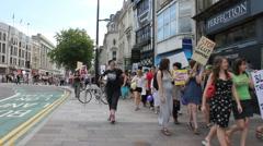 Slutwalk march through Cardiff 1 Stock Footage
