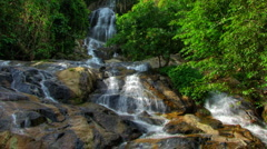 Tropical waterfall timelapse Stock Footage