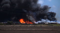 Oxnard fire pan Stock Footage
