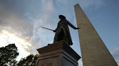 Stock Video Footage of bunker hill monument statue