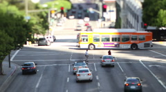 Timelapse traffic downtown los angeles Stock Footage