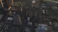 Stock Video Footage of Aerial Downtown Sunset Vertical 3