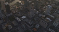 Stock Video Footage of Aerial Downtown Sunset Vertical 2