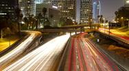 LA timelapse traffic freeway los angeles at night Stock Footage