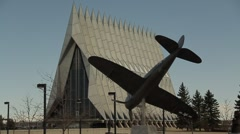 Air Force Academy Cathedral - stock footage