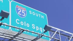 I-25 Highway Colorado Springs - stock footage