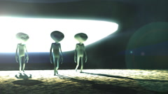 Aliens - stock footage