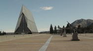 Air Force Academy Cathedral Stock Footage