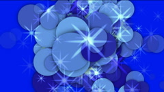 Explosion dots debris,fireworks particle gas,abstract foam smoke,energy star. Stock Footage