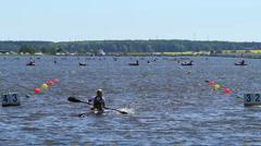 Kayak racing Stock Footage