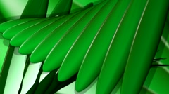 HD 3D Abstract Rotating Leaves Loop Stock Footage