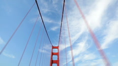 Driving Over Golden Gate Bridge in San Francisco, California Stock Footage