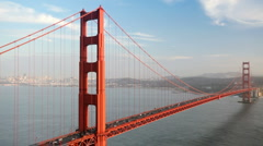 Golden Gate Bridge Traffic in San Francisco, California Stock Footage