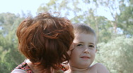 Son and mother. Stock Footage