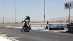 At the dragstrip with just about anything that has wheels - 98 Stock Footage