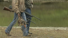 Stock Video Footage of duck hunters HD