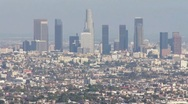LA view from Runyon Canyon HD Stock Footage