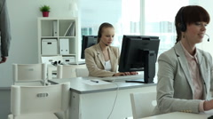 Call center employers - stock footage