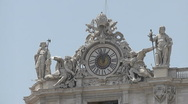 Stock Video Footage of St. Peter's Basilica Time and Clock Left - HD1080