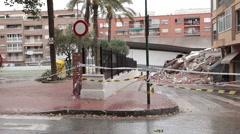 Lorca Spain Earthquake building collapsed P HD 026 Stock Footage