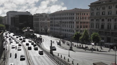 Traffic Intersection, Flaminio - Rome - HD1080 Stock Footage