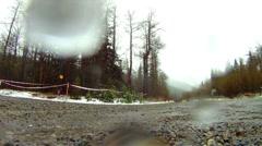 Motorsports, rally car low angle through frame danger close! #5 Subaru WRX Stock Footage