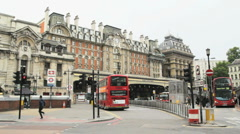Timelapse Victoria Station in London Stock Footage