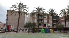 Lorca Spain Earthquake building collapse pan P HD 022 Stock Footage