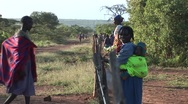 Stock Video Footage of Kenya Villagers 2