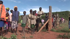 Kenya Villagers - stock footage