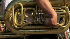 Musician with his instrument Stock Footage