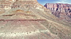 Grand Canyon. Aerial view over Colorado river Stock Footage